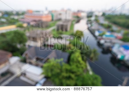 Out of focus background - river landscape
