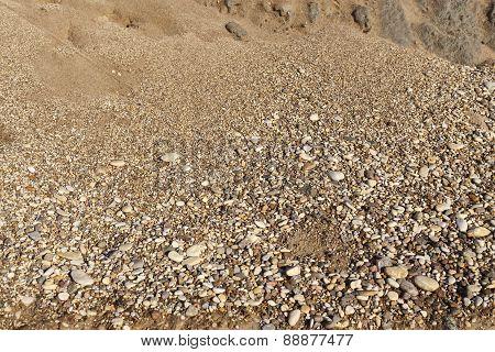 Small gravel stones texture background
