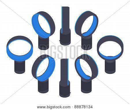 Isometric bladeless air fan