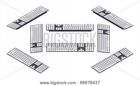 Isometric PC keyboard