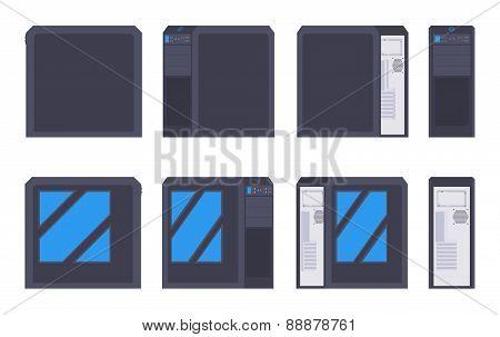 Black PC case
