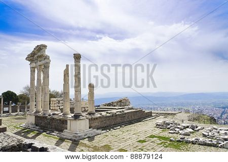 Temple Of Trajan In The Ancient City Of Pergamon, Bergama, Turkey