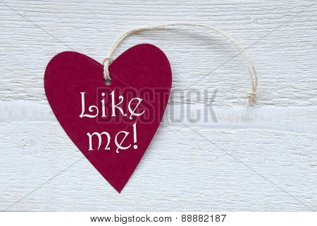 Red Heart Label With Like Me