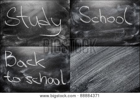School Chalkboard Background With Message Education
