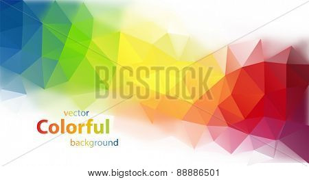 Abstract colorful triangle shaped vector background