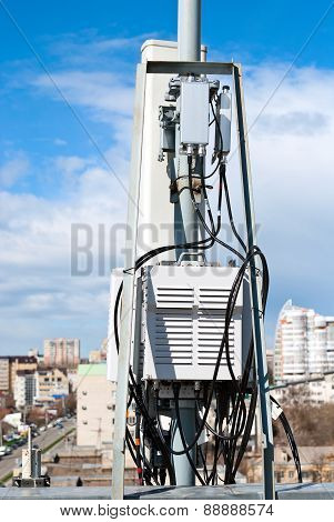 Antenna Cellular Base Station In The City