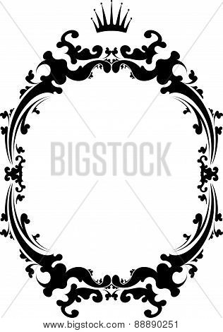 Decorative Vintage Frame With Crown.