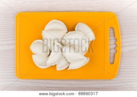 Raw Dumplings On Board, Top View