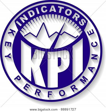 KPI. Key Performance Indicator design - rubber stamp. Vector illustration for your design.