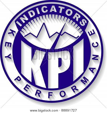 KPI. Key Performance Indicator design - rubber stamp. Vector illustration for your design.