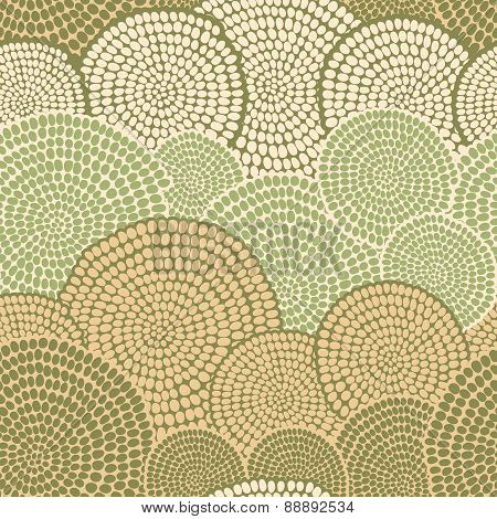 Traditional African Ornament With Swirls. Seamless Pattern.