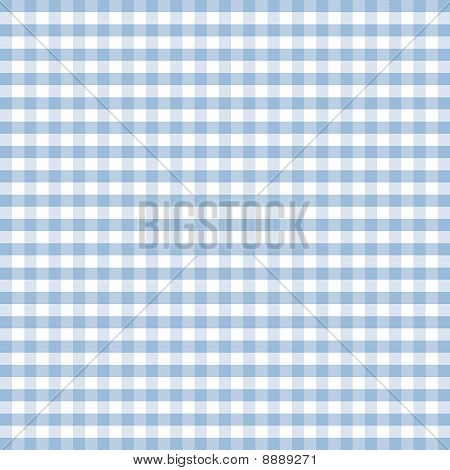 Seamless Gingham, Pastel Blue