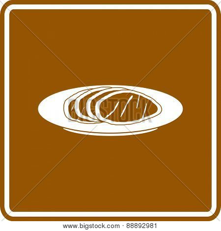 turkey slices in dish sign