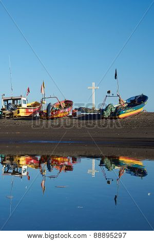 Fishing Boat Reflections