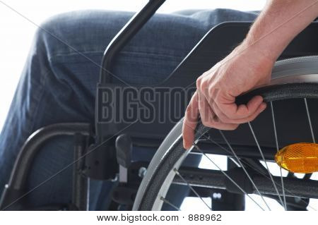 Sitting On A Wheelchair