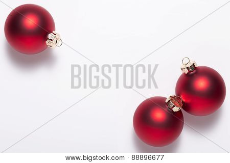 Christmas ball with greeting card with space for text