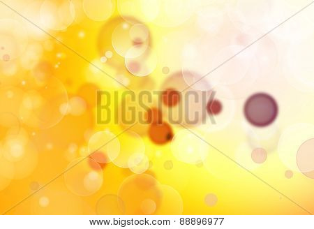 Yellow and white circles background