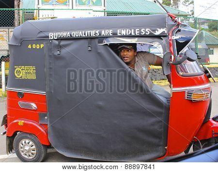 Sri Lankan Tut-Tut Driver