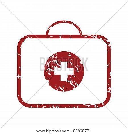 Red grunge doctor bag logo
