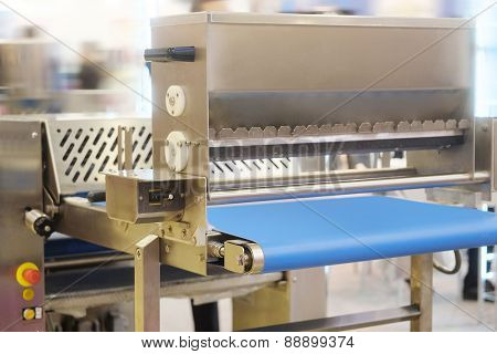 Automated bread production line in bakery
