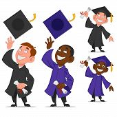 picture of graduation  - set of graduates - JPG