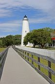 pic of outer  - Okracoke lighthouse in the Outer Banks - JPG