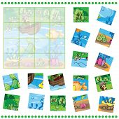 stock photo of game-fish  - Jigsaw Puzzle game for Children  - JPG