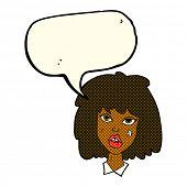pic of bruises  - cartoon woman with bruised face with speech bubble - JPG
