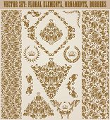 pic of brocade  - Set of vector damask ornaments - JPG