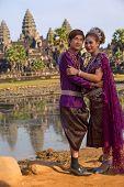 pic of ceremonial clothing  - ANGKOR WAT SIEM REAP CAMBODIA JANUARY 28 2015 - JPG