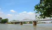 image of old bridge  - Old railway bridge in Dong Nai southern Vietnam - JPG