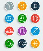 pic of zodiac  - Flat trendy zodiac symbols with shadows - JPG