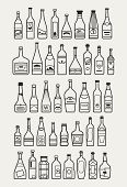 picture of alcoholic beverage  - icons of different beverages and alcohol bottles vector illustration - JPG