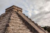 foto of yucatan  - Close up Chichen Itza Mayan Pyramid Yucatan Mexico - JPG