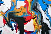 image of acrylic painting  - Abstract acrylic modern painting fragment - JPG