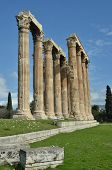 pic of olympian  - A view of the remains of the Olympian Zeus temple in Athens - JPG