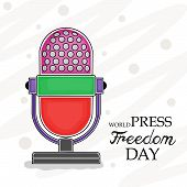 picture of freedom speech  - illustration for World Press Freedom Day in gray background - JPG
