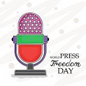 stock photo of freedom speech  - illustration for World Press Freedom Day in gray background - JPG