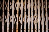pic of roller shutter door  - the old metal roller shutter gate background - JPG