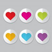 picture of heart  - Vector hearts set - JPG
