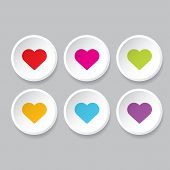 stock photo of marriage decoration  - Vector hearts set - JPG