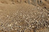 foto of sand gravel  - Small gravel stones texture background - JPG