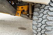 foto of four-wheel drive  - Wheel undercarriage of the car Four - JPG