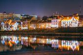 foto of trinity  - Night Scene Trinity Hill In Minsk - JPG