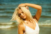 foto of hair blowing  - Holidays vacation travel and freedom concept - JPG
