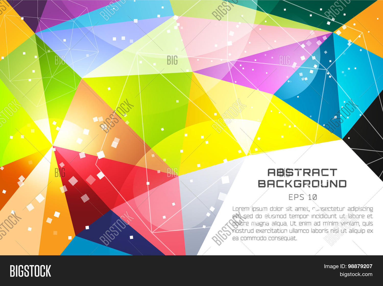colorful shapes background created - photo #33