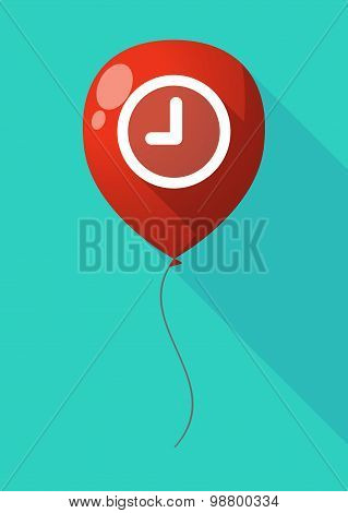 Long Shadow Balloon With A Clock