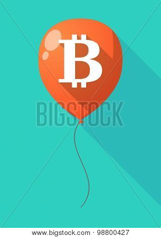 Long Shadow Balloon With A Bit Coin Sign