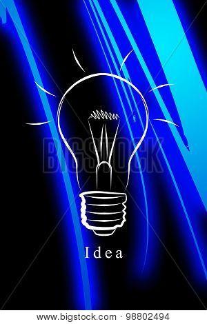 Idea bulb icon illustration