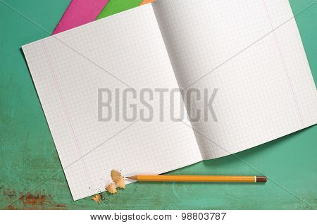 Exercise Books And Pencils
